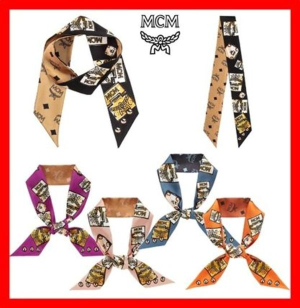 関税負担☆人気☆【MCM】☆LAUREL LOCK TWILLY SCARF☆5色☆
