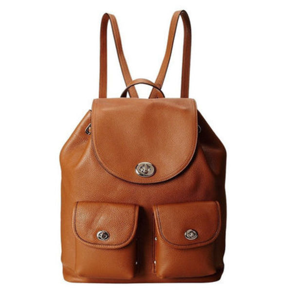 【 Coach  】 コーチ Turnlock Tie Backpack バックパック 茶