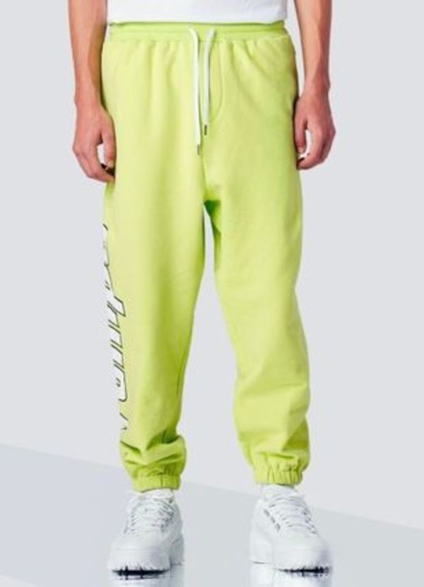 Stampd KMS Sweatpants Highlighter Yellow