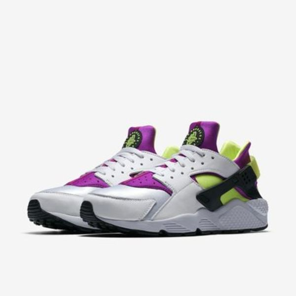 NIKE AIR HUARACHE RUN '91 QS - WHITE/NEON YELLOW
