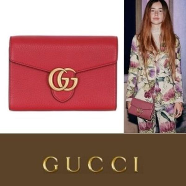 GUCCI  GG Marmont  Leather Chain Wallet 2015AW