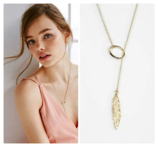 セール!!Feather Lariat Necklace