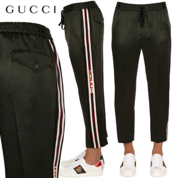 【正規品保証】GUCCI★18秋冬★JAPANESE ACETATE TRACK PANTS