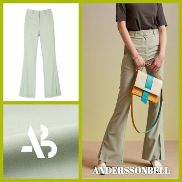 ANDERSSON BELL BORIS SIDE SLIT TROUSERS パンツ