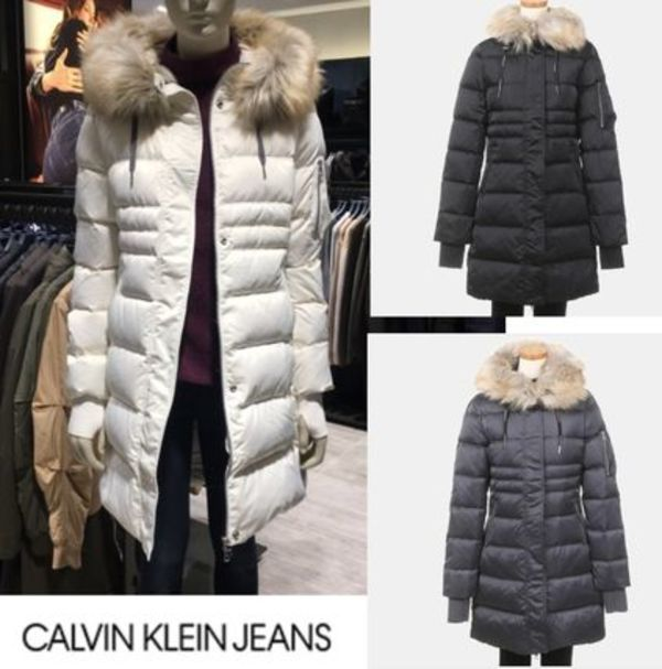 CALVIN KLEIN JEANS Opra Hooded Down Filled Coat 3カラー