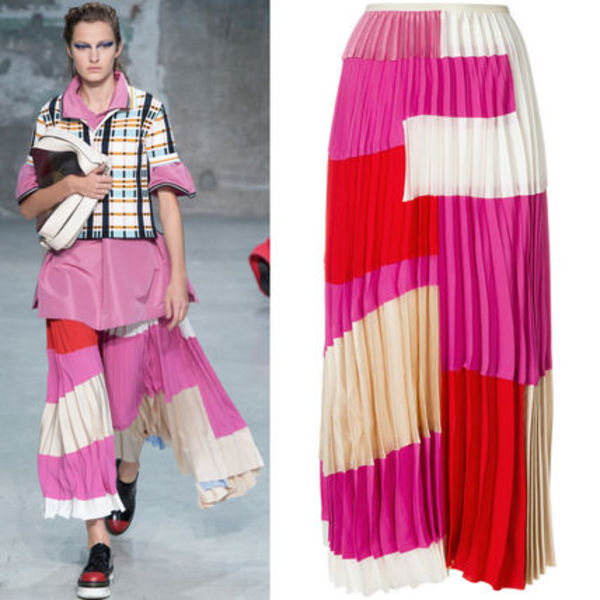 18SS M412 LOOK28 WASHED SATIN CREPE SKIRT