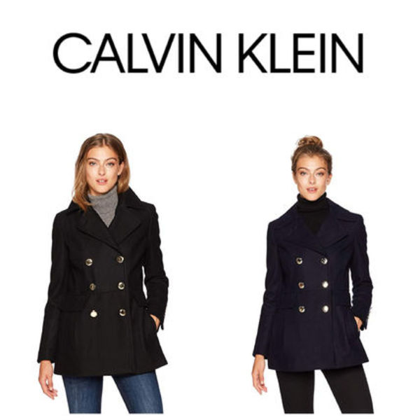 追跡有【Calvin Klein】Polished Wool Coat Pコート