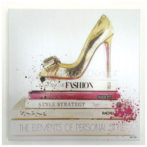 Oliver Gal Gold Shoe And Fashion Books 小さいサイズ 41x41cm