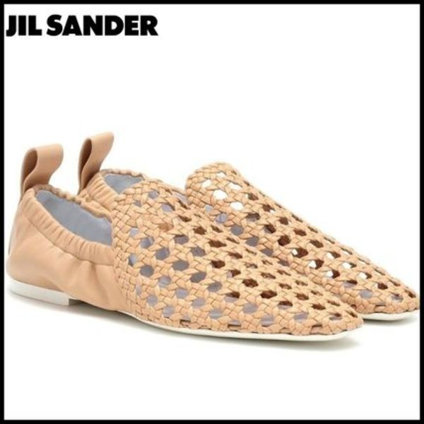 Jil Sander(ジルサンダー)★Woven leather ballet flats