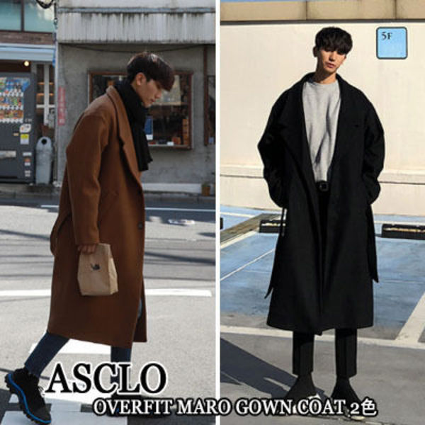 ASCLO★韓国の人気★OVERFIT MARO GOWN COAT 2色