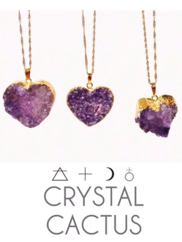 RAW Amethyst Heartネックレス