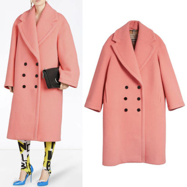 18-19AW BB057 DOUBLE FACE WOOL CASHMERE COCOON COAT