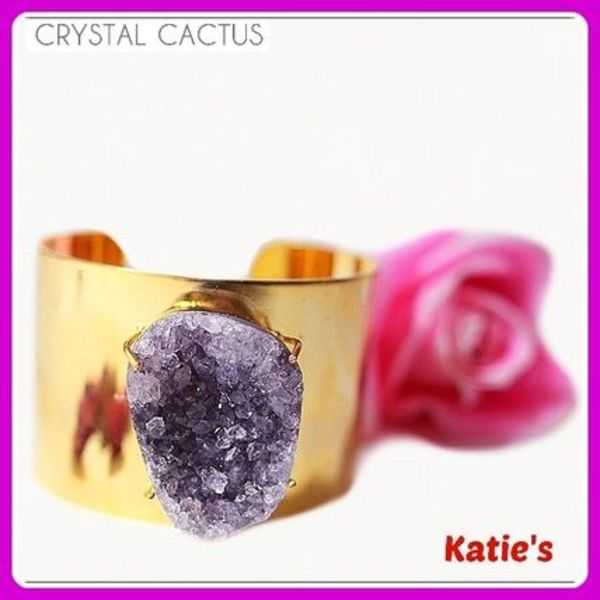 日本未入荷☆CrystalCactus☆GODDESS AMETHYST BANGLE☆バングル