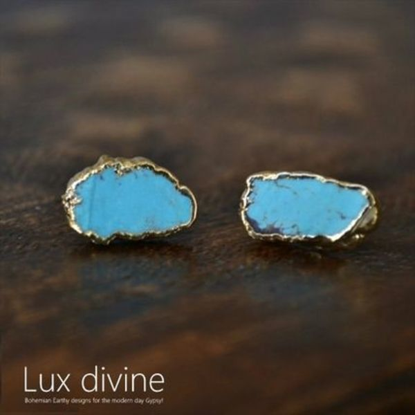 Luxdivine★ピアス★Turquoise EarringStuds Gold