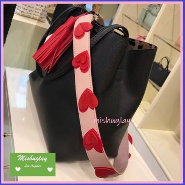 【kate spade】可愛いハート★make it mine strap & tassel★