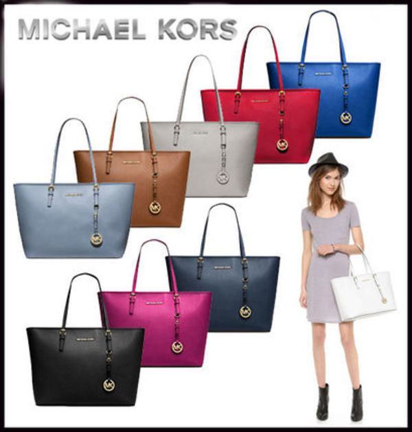 MICHAEL KORS★JET SET MEDIUM TRAVEL TOP ZIP TOTE 国内発送!