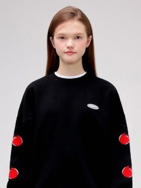 19SSコレクション☆MIDDLE CHERRY SWEATSHIRT IS [BLACK]