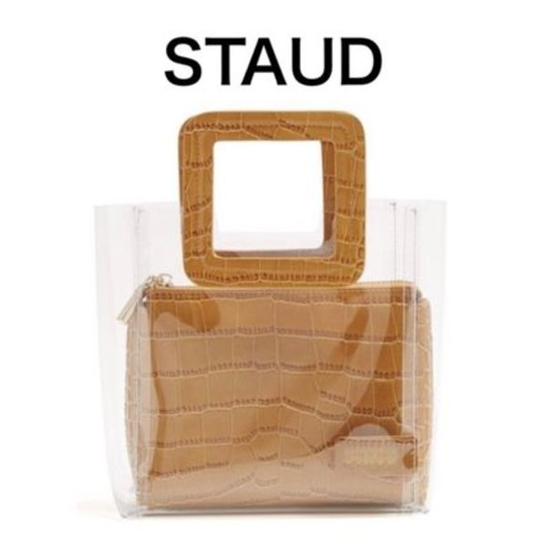 【19SS】★STAUD★Mini Shirley PVC and leather tote bag