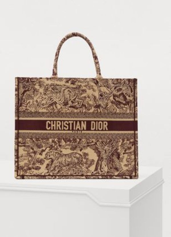 "【Dior】2019SS新作 ""DIOR BOOK TOTE"" トートバッグ(ボルドー)"