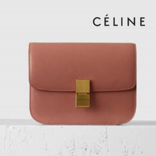 ☆CELINE☆Classic Medium Box♪Terracotta