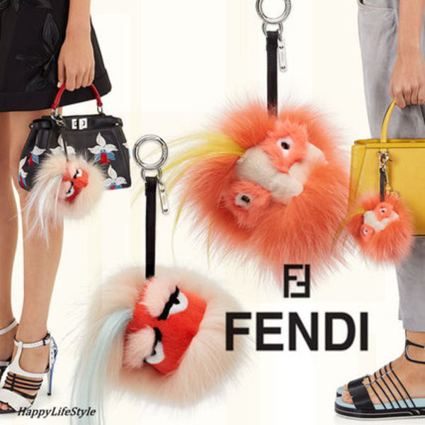 Mixed Fur Bag's Charm ★2タイプ★FENDI★