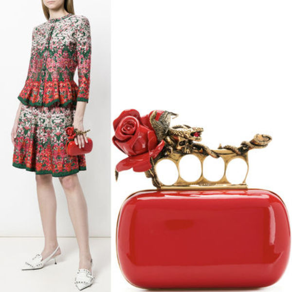 18SS AM362 EMBELLISHED FOUR RING BOX CLUTCH