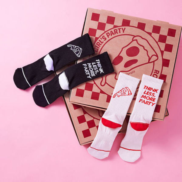 ★rolarola★韓国 ソックス ROLA PIZZA LETTERING SOCKS【2色】