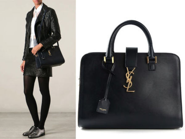 "15SS WSL495 SAINT LAURENT "" SMALL CABAS MONOGRAM"" BAG"
