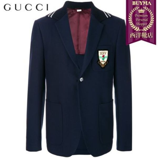 【正規品保証】GUCCI★19春夏★CAMBRIDGE BLIND FOR LOVE BLAZER
