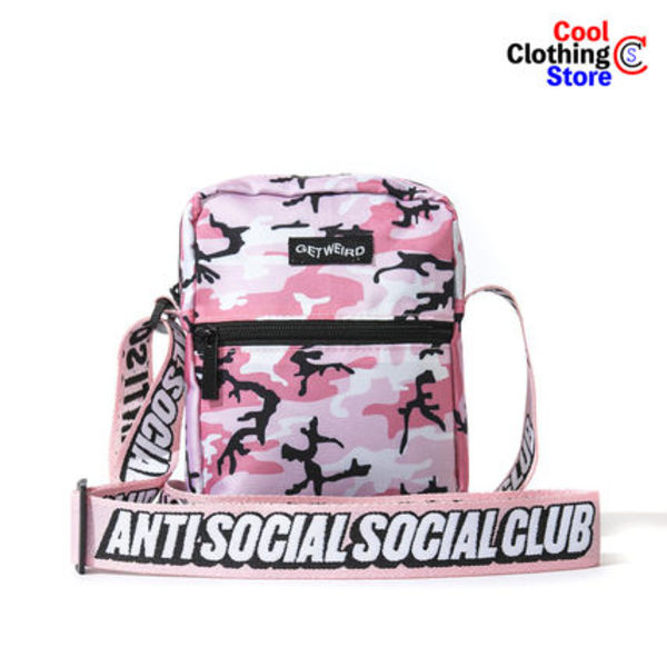 最短8日 Anti Social Social Club ASSC Shoulder Bag Pink Camo
