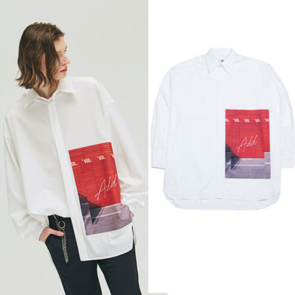 ★ADD SEOUL★日本未入荷シャツ GRAPHIC OVERSIZED SHIRTS WHITE