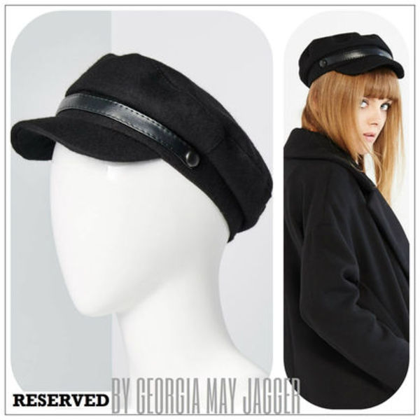 ★【 RESERVED♪by Georgia May Jagger】FLAP CAP(ウール)★
