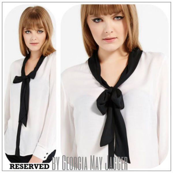 ★LIMITED【 RESERVED♪by Georgia May Jagger】SILK SHIRT★
