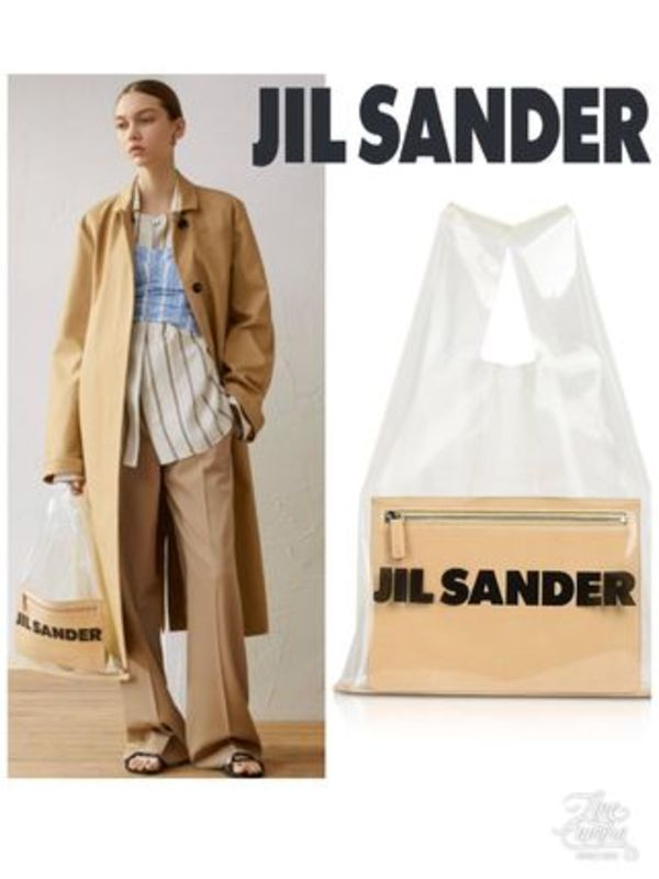 19SS新作 JIL SANDER「Medium Transparent MarketBag 」PVCバッグ