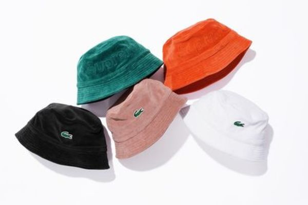 新作!18Supreme Lacoste Velour Bucket Hatバケットハット