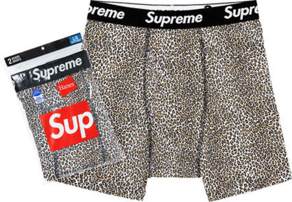 ◆WEEK1◆SUPREME19SS★HANES LEOPARD BOXER BRIEFS TEES 2 PACK