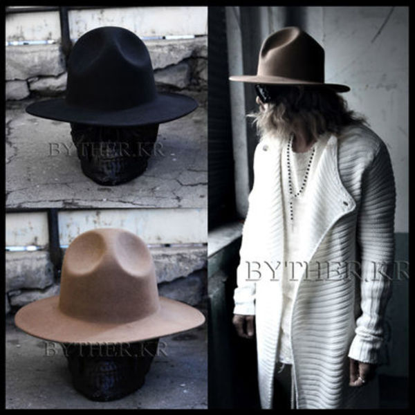 韓国の人気★BTHR★ByTheR Woolen Mountain Felt Fedora★