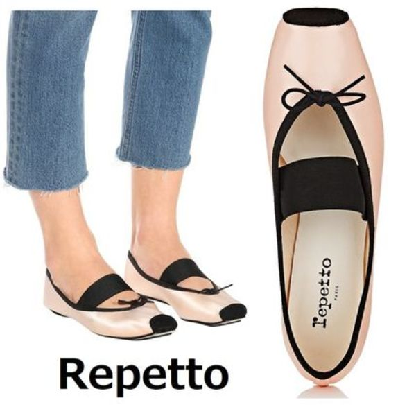 Repetto★Satin Square-Toe Ballet Flatsサテンピンク♪