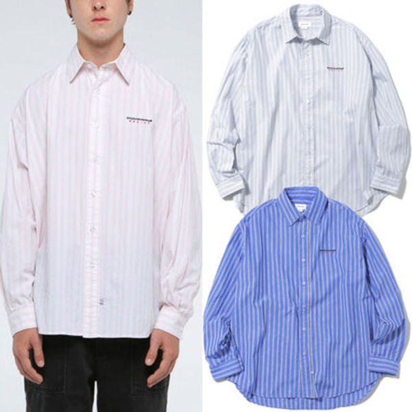 ★thisisneverthat★dsn-logo striped shirt  3色