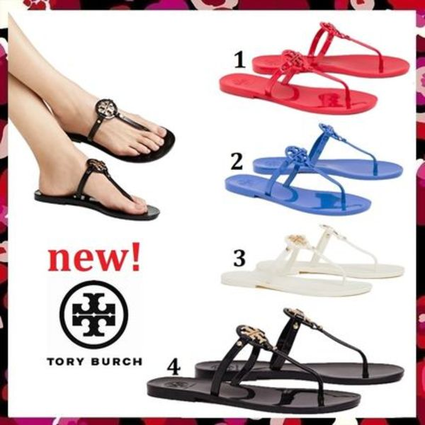 新作 Tory Burch ビーチへGO♪ Mini Miller Jelly Thong Sandal