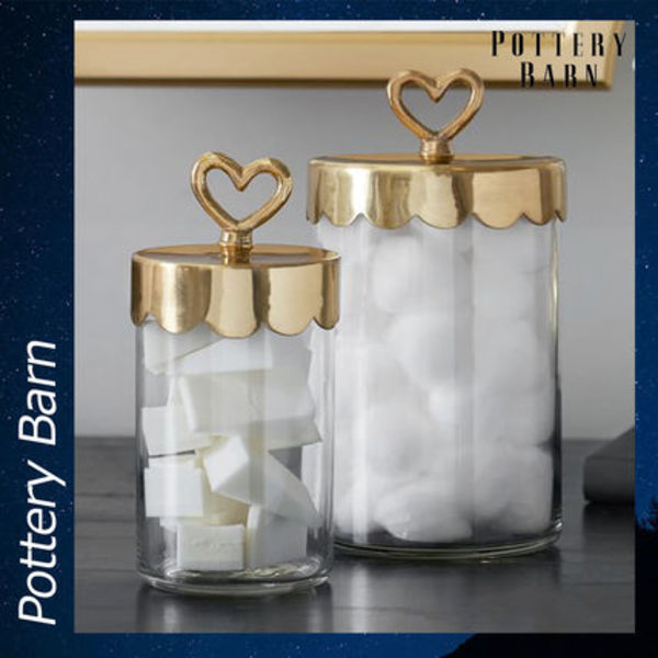 Pottery Barn The Emily & Meritt Beauty Jars ジャー ガラス