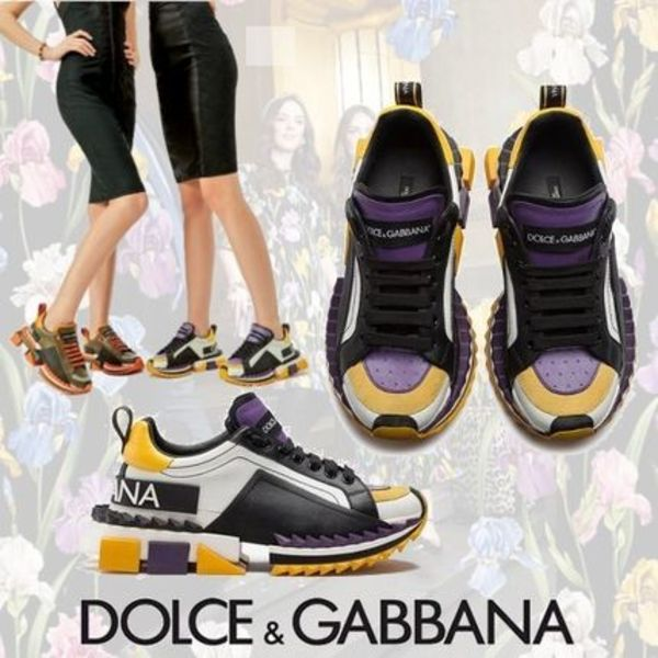 Dolce&Gabbana SUPER QUEEN スニーカー WHITE/PURPLE 大人の色香