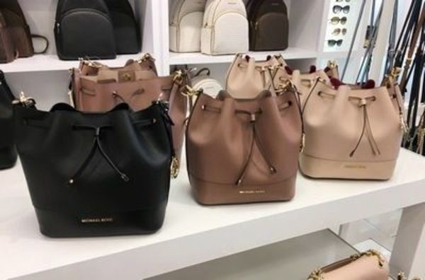 【Michael Kors】新作☆チャーム付 TRISTA MD BUCKET BAG 2way☆