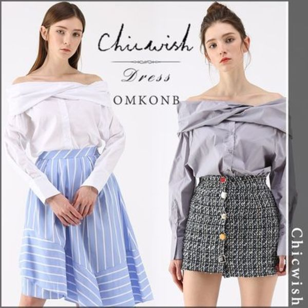 【国内発送・関税込】Chicwish★Vogue Sense Off-Shoulder Top