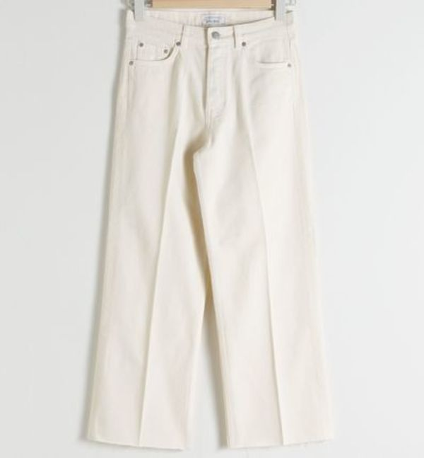 """& Other Stories"" Straight Mid Rise Jeans White"