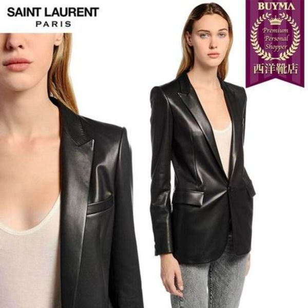 【正規品保証】SAINT LAURENT★18秋冬★NAPPA LEATHER BLAZER