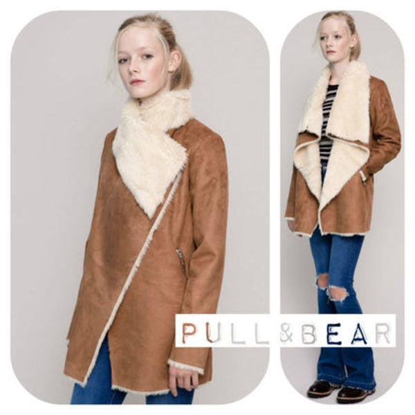 【期間限定】PULL & BEAR♪ DOUBLE-SIDED COAT DRAPED COLLAR★