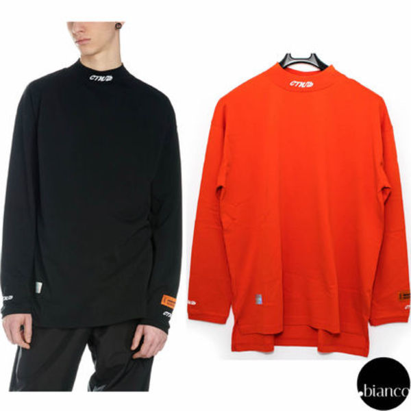 関税込HERON PRESTON TURTLENECK FIT LS CTNMB EMB Tシャツ