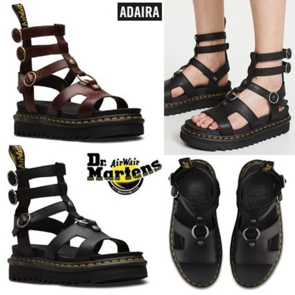 19SS新作! Dr. Martens Adairaグラディエーター軽量厚底サンダル