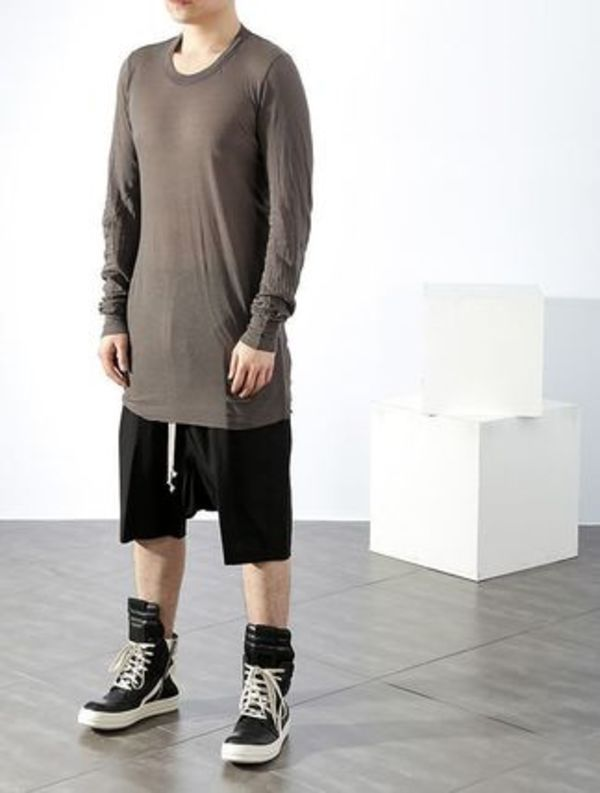 【関税負担】 RICK OWENS 16SS  LONG T-SHIRTS DARK GREY